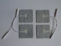 Elektródy k TENS samolepiace 46x47 mm šedé / 4ks v bal