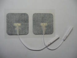 Elektródy k TENS samolepiace 40x40 mm šedé